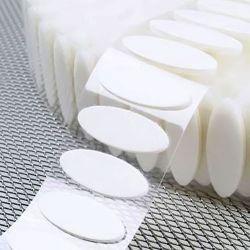 Self Adhesive Velcro Hook Loop Oval Shape Pads Pairs
