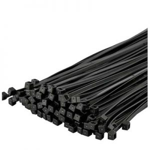 100 Pcs Nylon Cable Ties / Self-locking Plastic Wire Zip Ties Set 4.8*300mm / Black / MRO & Industrial Supply Fasteners & Hardware Cable