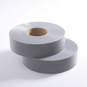 1 1/4 Inches 100m Reflective Tape Ash Safety Reflective Warning Tape Fabric, Retro-reflective Material,Cloth