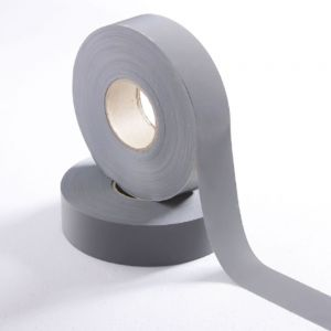 2Inches 100m Reflective Tape Ash Safety Reflective Warning Tape Fabric, Retro-reflective Material, Cloth.