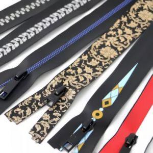 Invisible Waterproof Silk Screen Printed Zipper