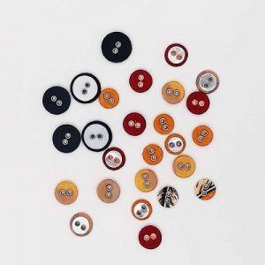 Self cover Button (PIG NOSE BUTTON) (FAB301)  METAL, PLASTICK,  EYELET -  GOLD/SLIVER/ROSS GOLD 7N Standard