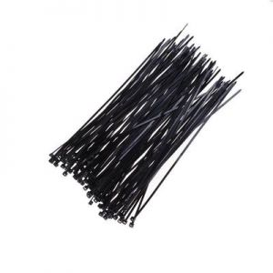 100 Pcs Nylon Cable Ties / Self-locking Plastic Wire Zip Ties Set 3.6*250mm /  Black / MRO & Industrial Supply Fasteners & Hardware Cable