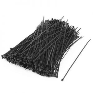 100 Pcs Nylon Cable Ties / Self-locking Plastic Wire Zip Ties Set 4.8*380mm / Black / MRO & Industrial Supply Fasteners & Hardware Cable