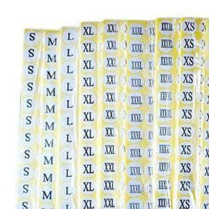 Garment Size Label Sticker